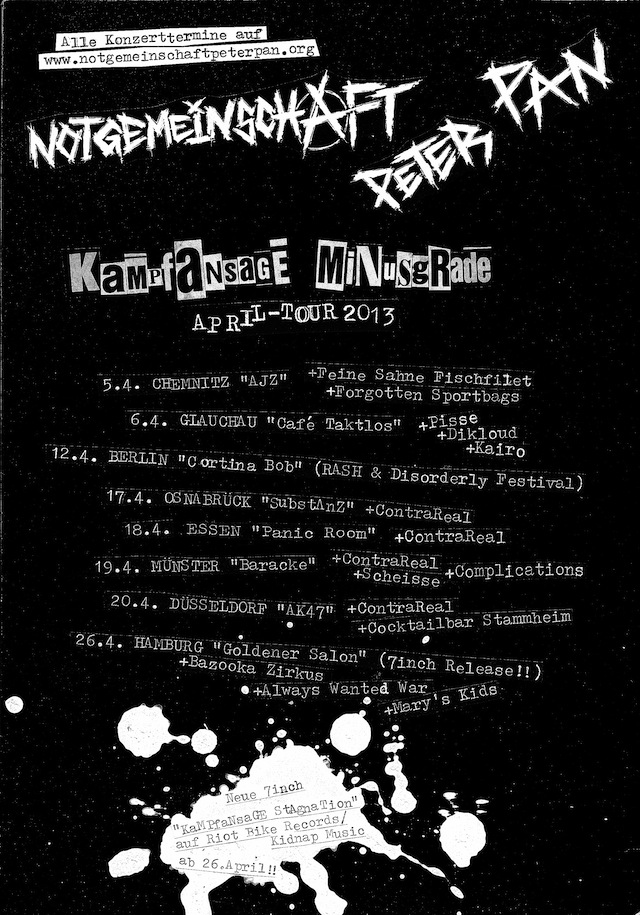 Tourflyer April 2013